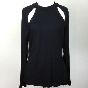 Missguided Black Blouse 10 NWT